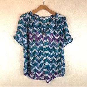 Collective Concepts Chevron Style Blouse in EUC